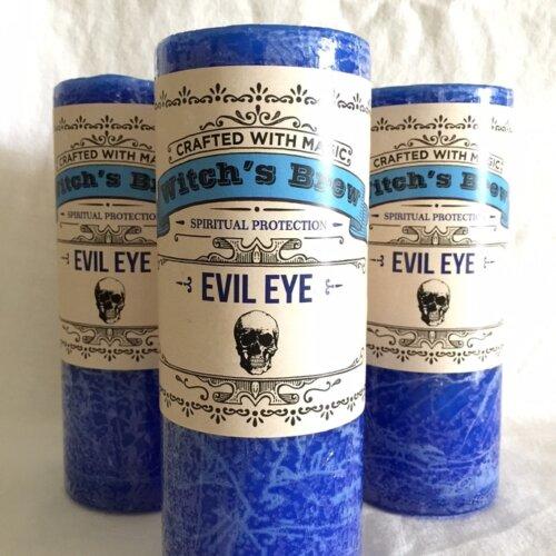 Evil eye witch's brew candles Yatzuri