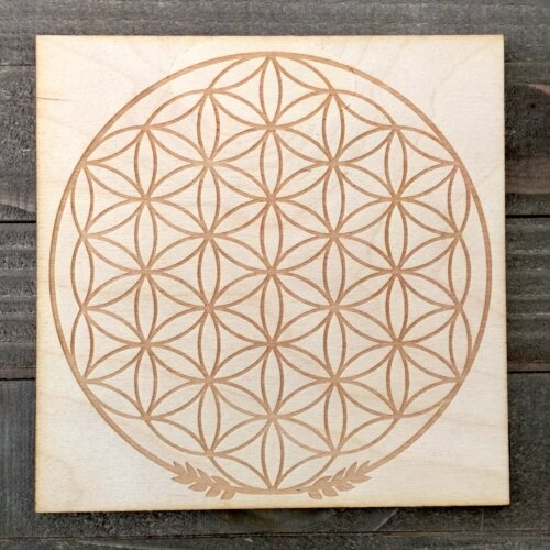 6x6 inch Flower of Life Grid