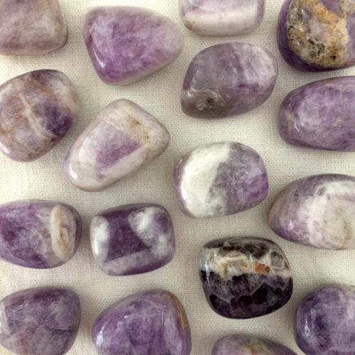 Banded Amethyst Tumbled Stone