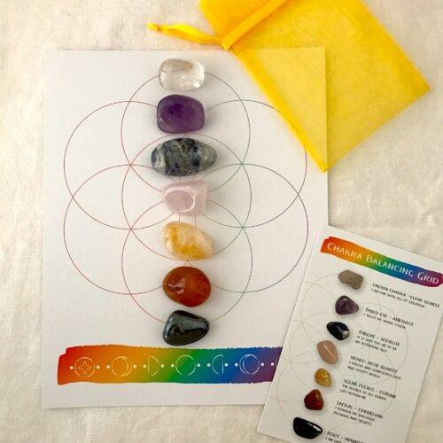 Chakra Balancing Crystal Grid Kit Yatzuri