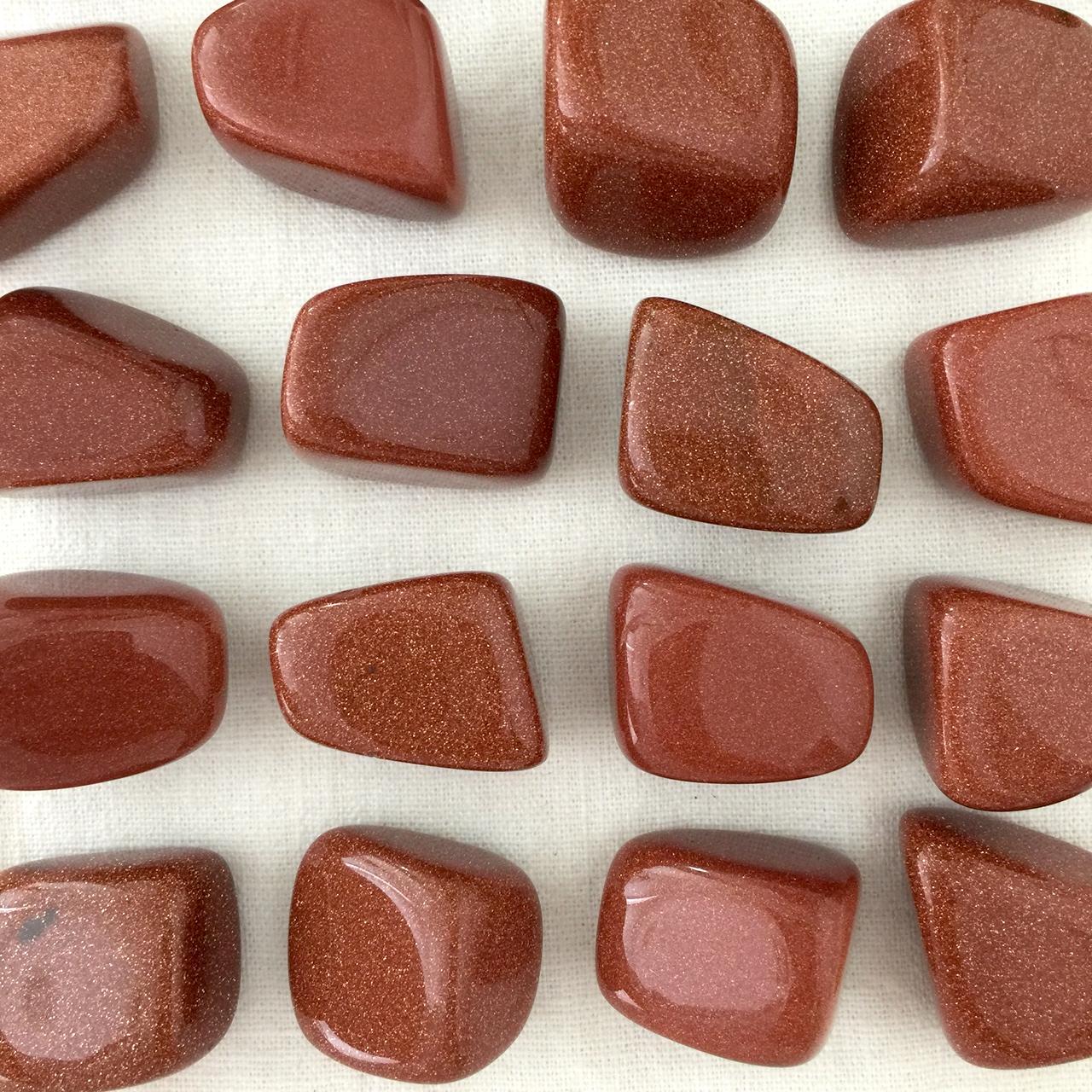 Red Goldstone Tumbled Stone
