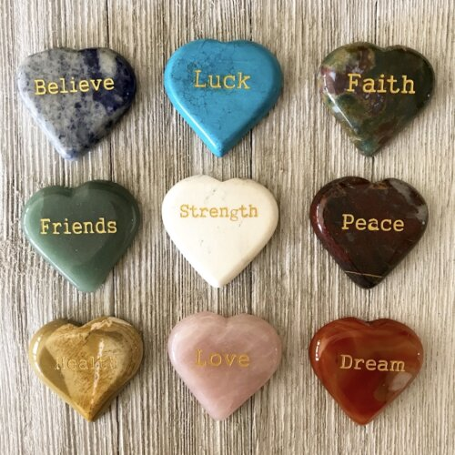 Gemstone Word Heart Yatzuri