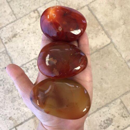Carnelian Palm Stones Yatzuri