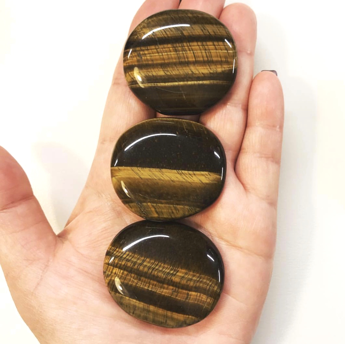 Golden Tiger Eye Round Smooth Stone Yatzuri