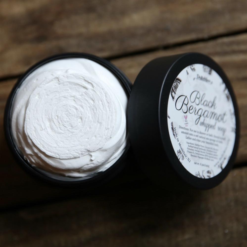 Black Bergamot Whipped Soap Yatzuri