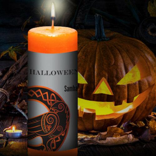 Halloween Samhain Pillar Candle Yatzuri