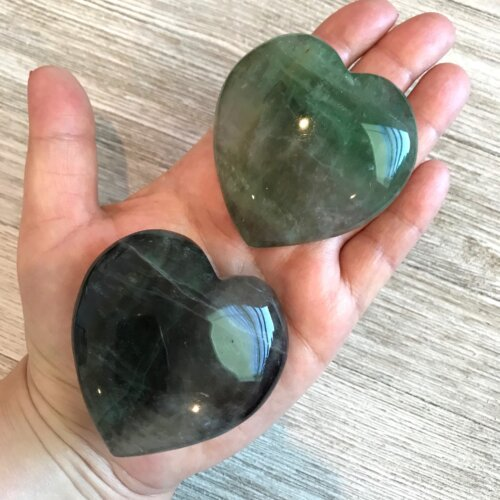 Large Fluorite Hearts Yatzuri