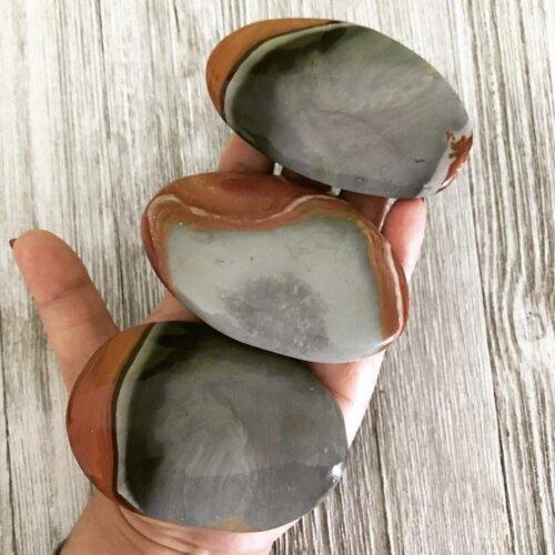 Polychrome Jasper Palm Stone Yatzuri