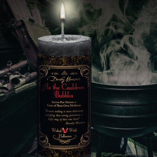 As the Cauldron Bubbles Wicked Witch Candle Yatzuri