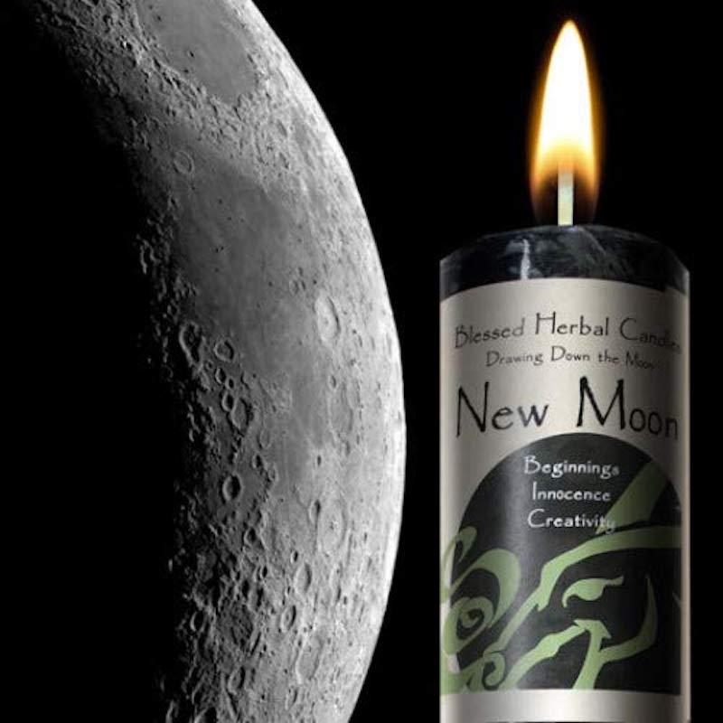 New Moon Pillar Candle