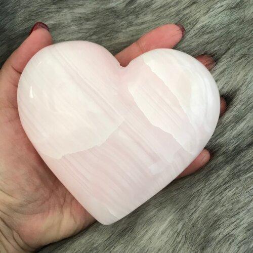 Pink Calcite Heart Yatzuri