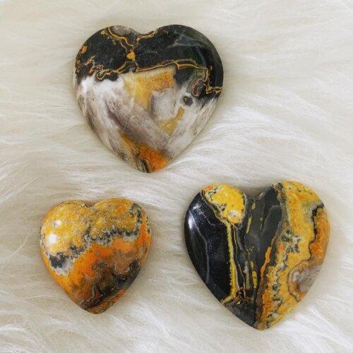 Bumblebee Jasper Stone Hearts Yatzuri