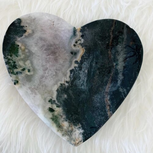 Amethyst & Agate Heart Shaped Bowl Yatzuri