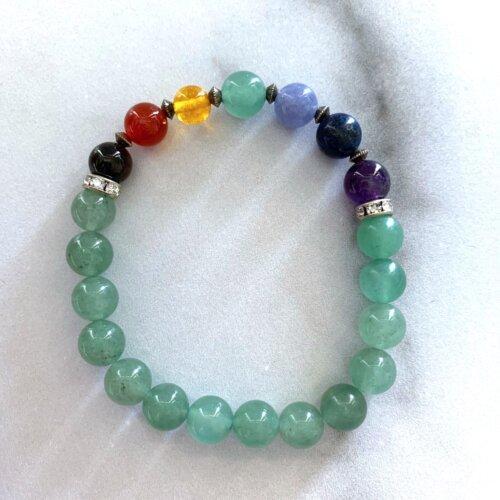 Green aventurine chakra bracelet Yatzuri
