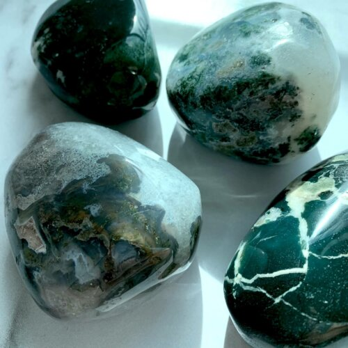 Moss Agate Palm Stones Yatzuri