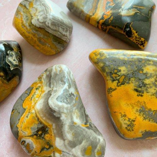 Bumblebee Jasper Palm Stones Yatzuri