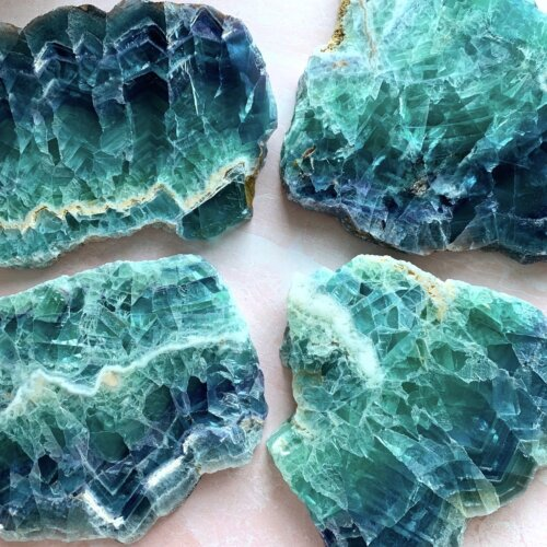 Rainbow Fluorite Slabs Yatzuri