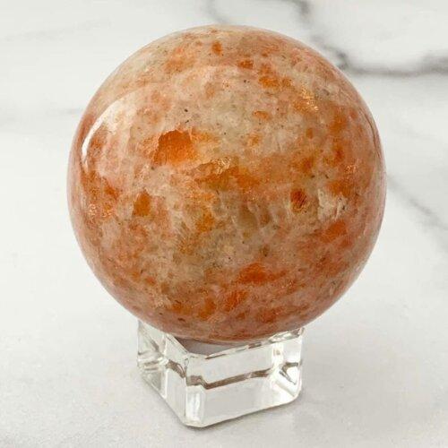 56 mm Sunstone Sphere Yatzuri
